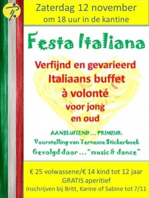 Italiaanse avond en presentatie stickerboek